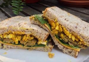 Tofu Egg Breakfast Sandwiches