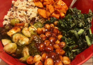 Sweet Potato Brussel Sprout Bowls
