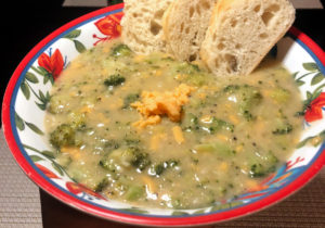 "Vegan ""Cheddar"" Broccoli Soup"