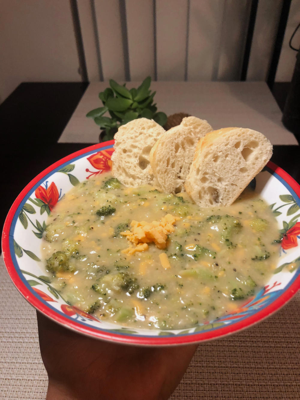 Final Product: Vegan Cheddar Broccoli Soup